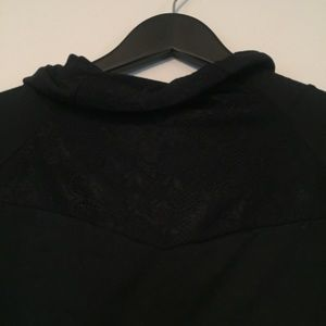 Fabletics Tops - NWT Fabletics Black Lace Small Athletic Pull over